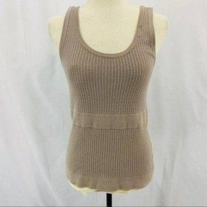 Peck & Peck Weekend Taupe Knit Tank